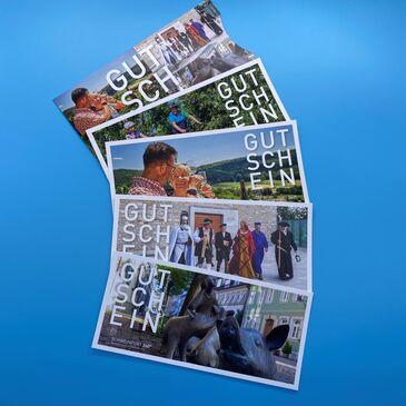 Gutscheine von der Tourist-Info Schweinfurt mit Wunschwert
